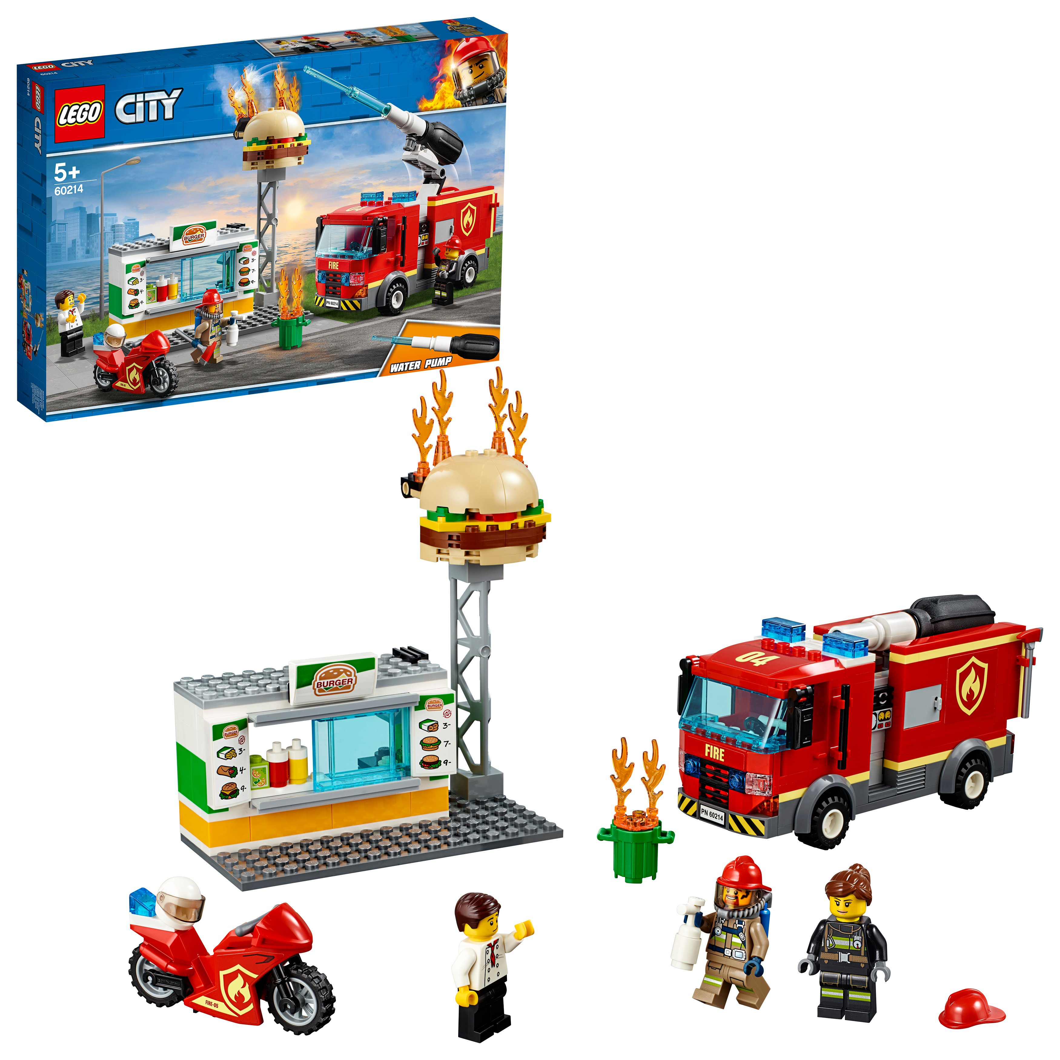 LEGO City - Burger Bar Fire Rescue (60214)