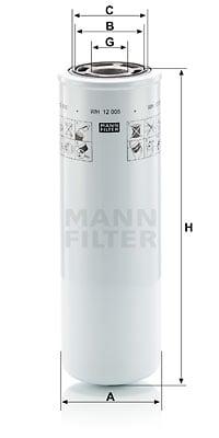 Hydrauliikkasuodatin, automaattivaihteisto MANN-FILTER WH 12 005