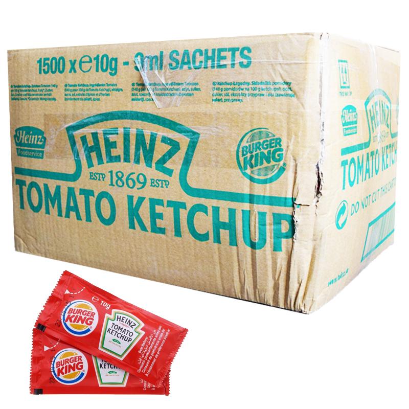 Hel Låda Ketchup Portionsförpackningar 1500 x 10g - 95% rabatt