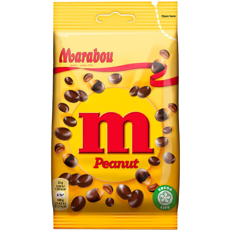Marabou M Peanut 90 gr