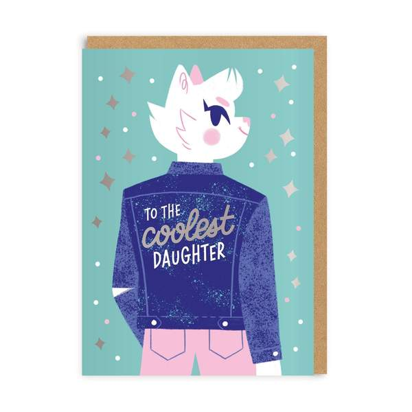 Coolest Daughter Greeting Card