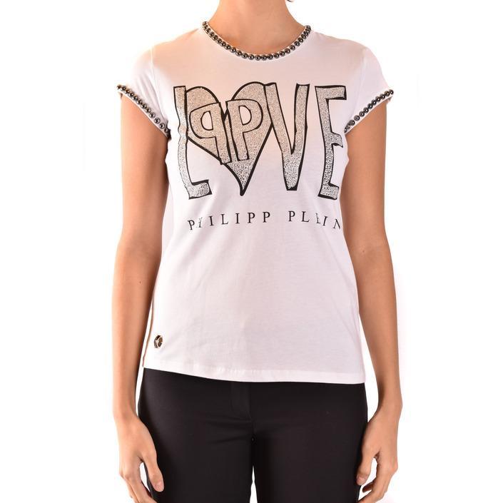 Philipp Plein Women's T-Shirt White 184667 - white L