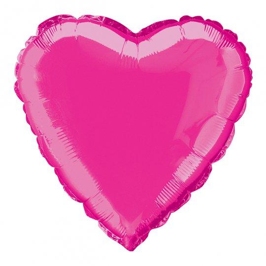 Folieballong Rosa Hjärta