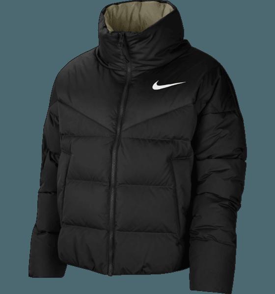 Nike W Stmt Dwn Jkt Jackor BLACK/MYSTIC STONE