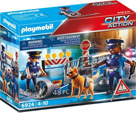 Playmobil 6924 Veisperre Politi