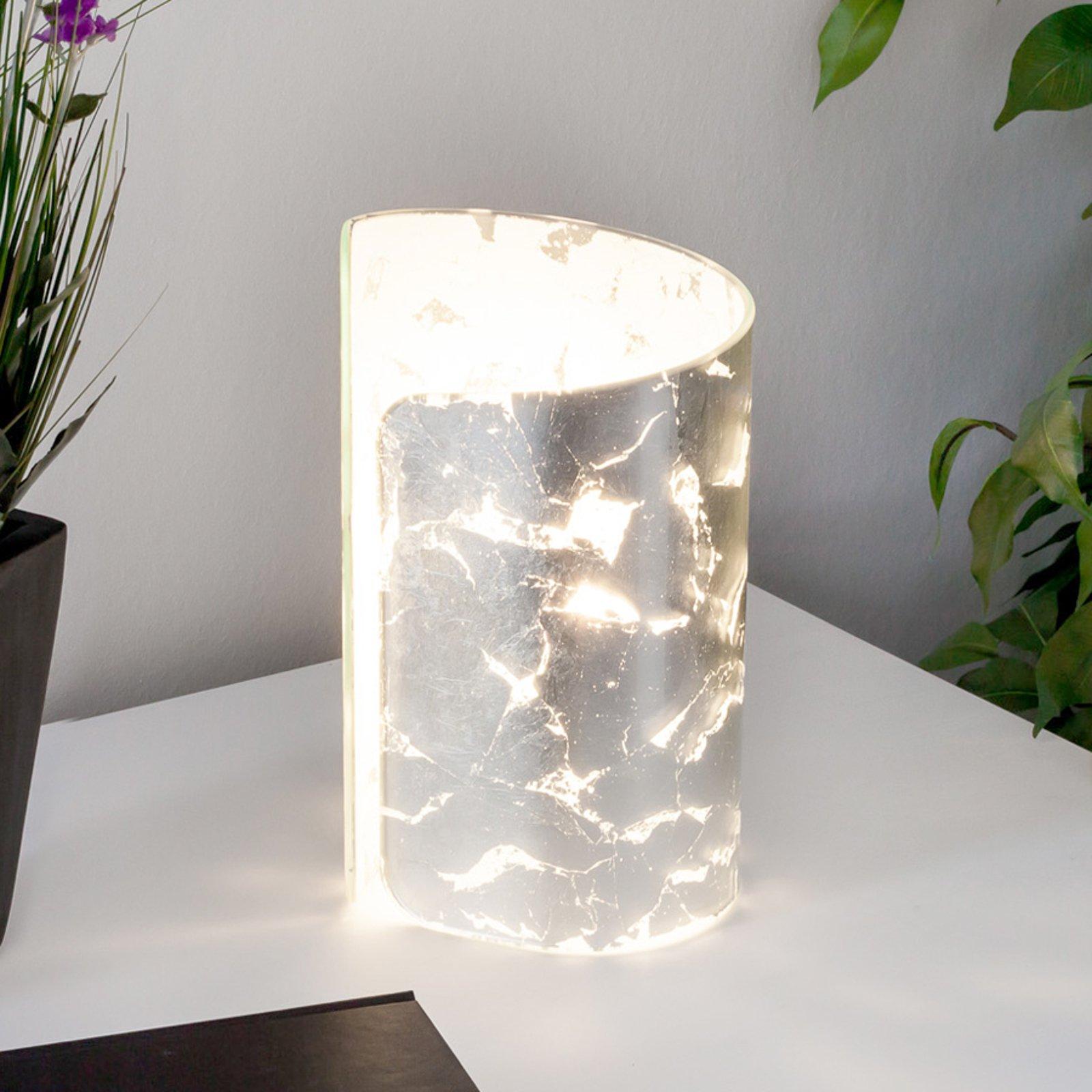 Bordlampe Papiro, sølv