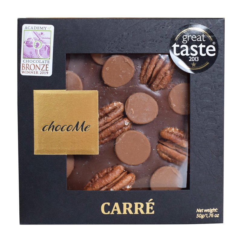 Ljus choklad Pekannötter, chokladknappar & karamell - 33% rabatt