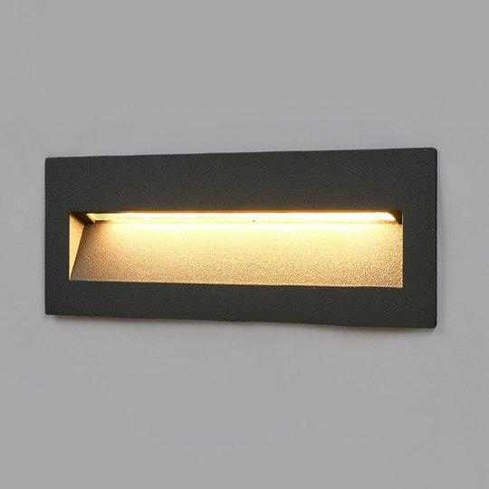 Tumma LED-uppovalaisin Loya, ulkoseinäasennus