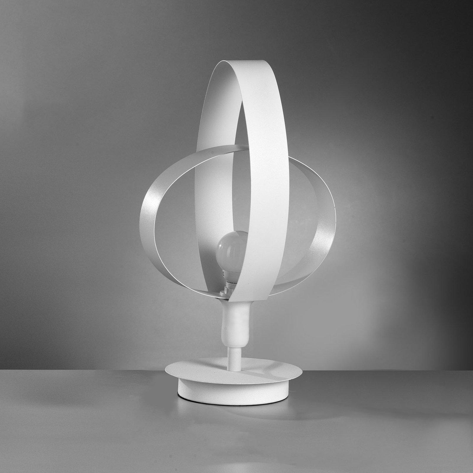 Bordlampe Serena i nydelig design, hvit