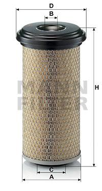 Ilmansuodatin MANN-FILTER C 15 165