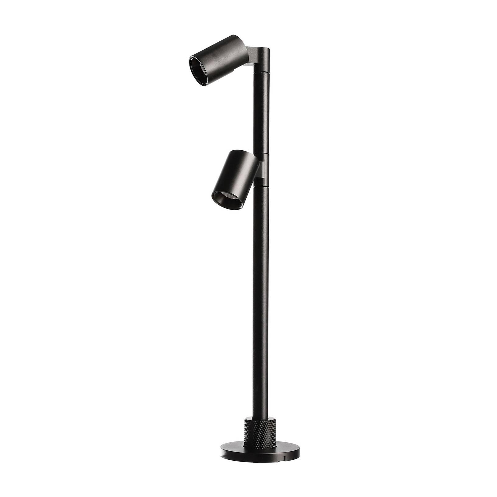 LED-display-valaisin Herculis double 3 000 K musta