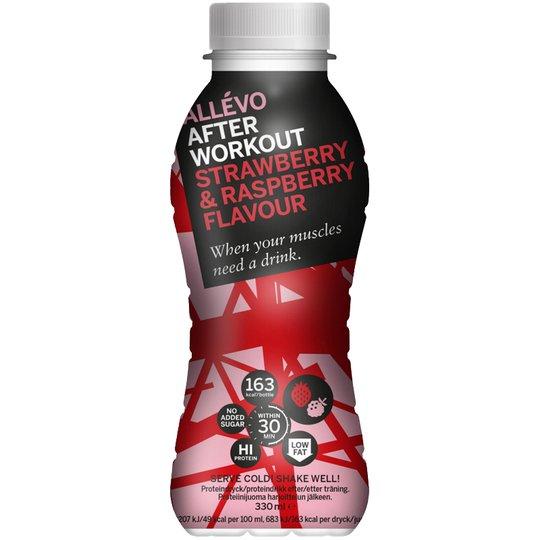"Proteindryck ""Strawberry & Raspberry"" 330ml - 47% rabatt"