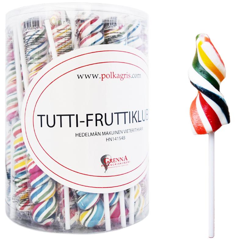 Hel Låda Spiralklubba Tuttifrutti 60 x 25g - 84% rabatt