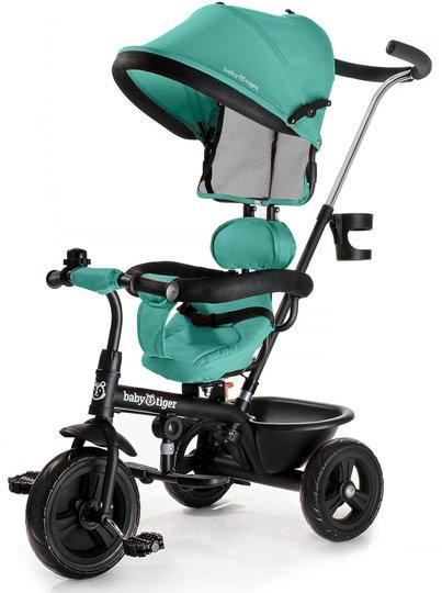 Kinderkraft Baby Tiger Trehjuling FLY, Grønn/Blå