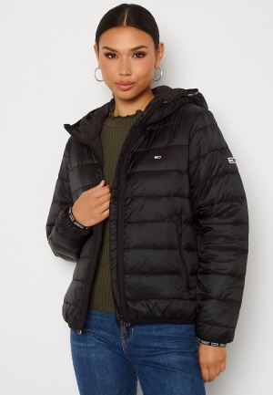 TOMMY JEANS Quilted Hooded Jacket BDS Black S