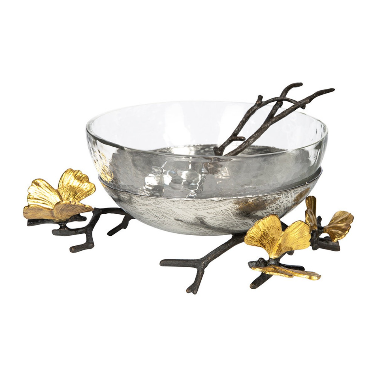 Michael Aram I Butterfly Ginkgo Glass Nut Dish