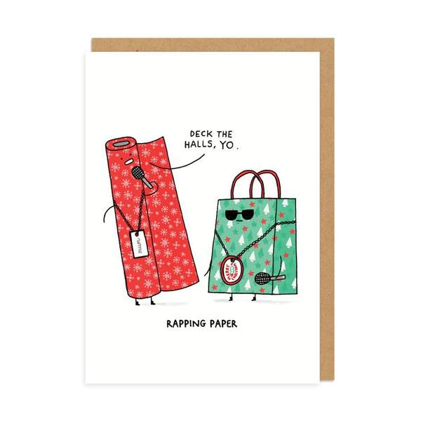Rapping Paper Christmas Card