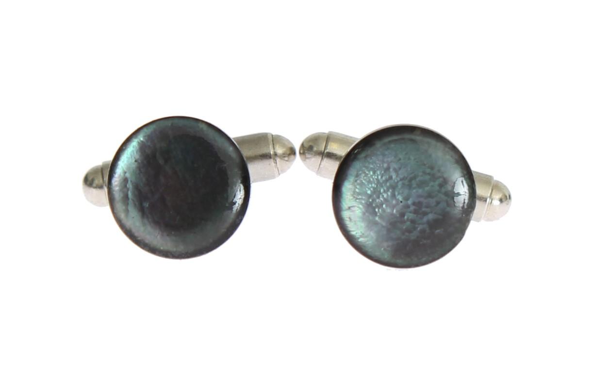 Dolce & Gabbana Men's Brass Round Cufflinks Silver SIG31505