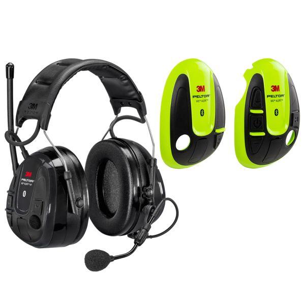 3M Peltor WS Alert XP Kuulonsuojain Hi-viz värikuori, Bluetooth, päälakisanka