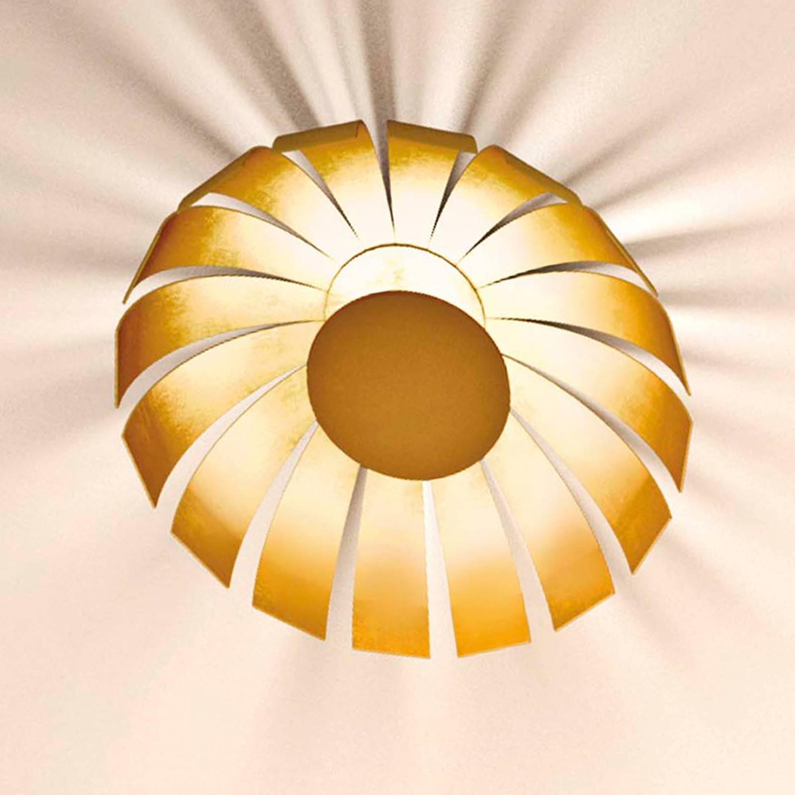 Kullattu LED-design-kattovalaisin Loto, 27 cm