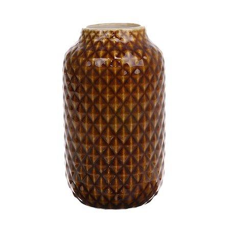 Vase Keramikk Brun Glazed 148 cl