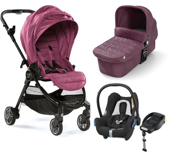 Baby Jogger City Tour Lux Duovogn, Rosewood + Maxi-Cosi Cabriofix Travelsystem
