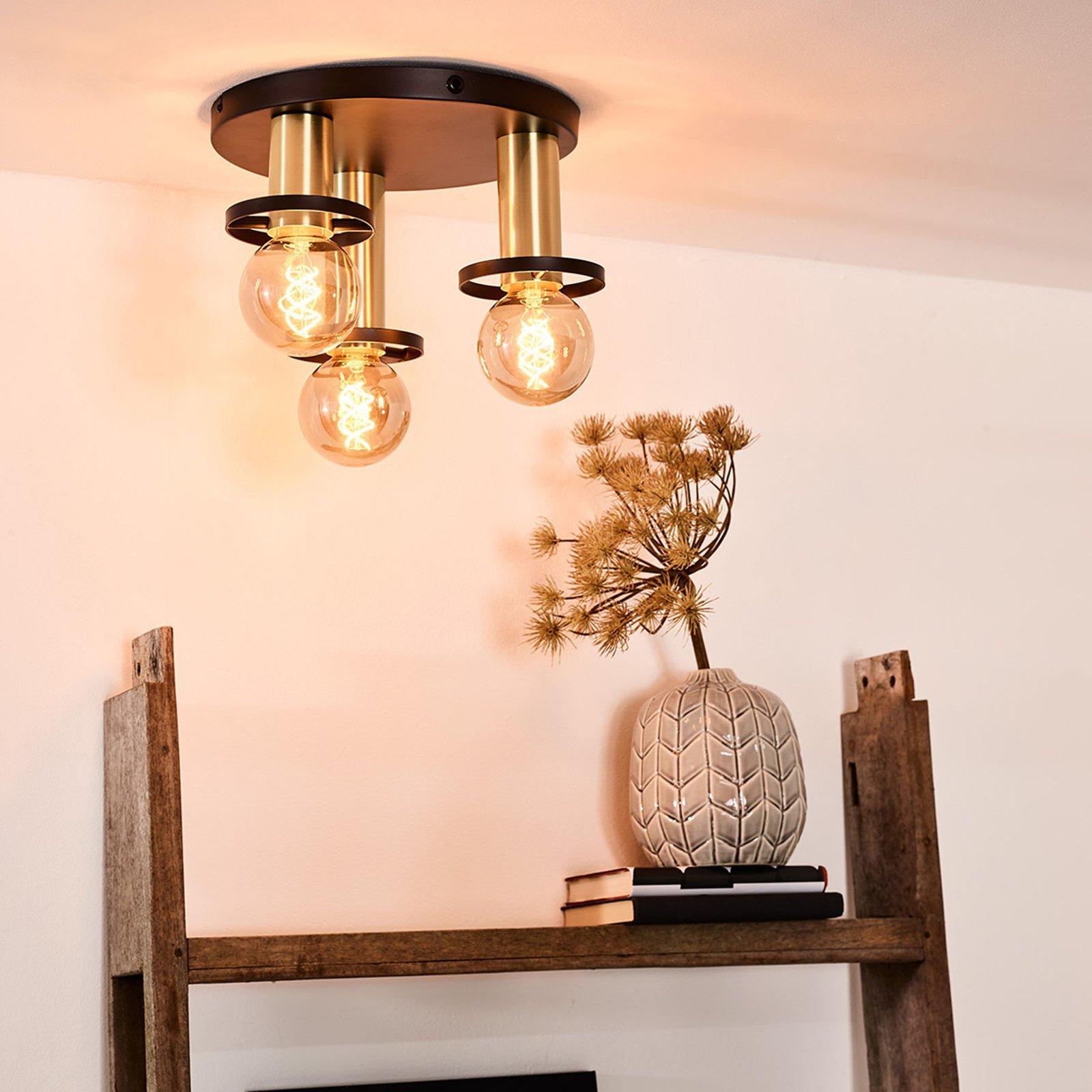 Anaka sirkelformet taklampe, 3 lyskilder