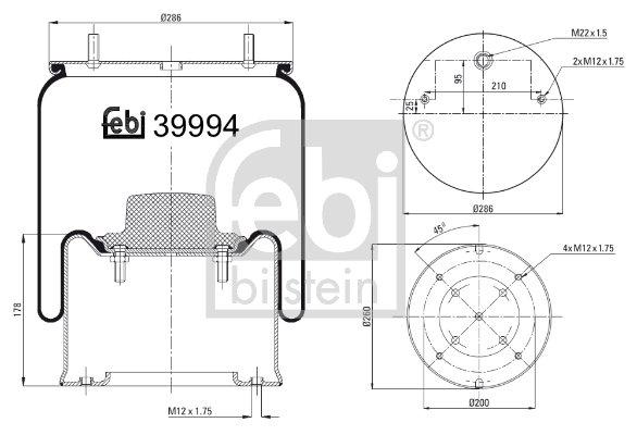 Metallipalje, ilmajousitus FEBI BILSTEIN 39994