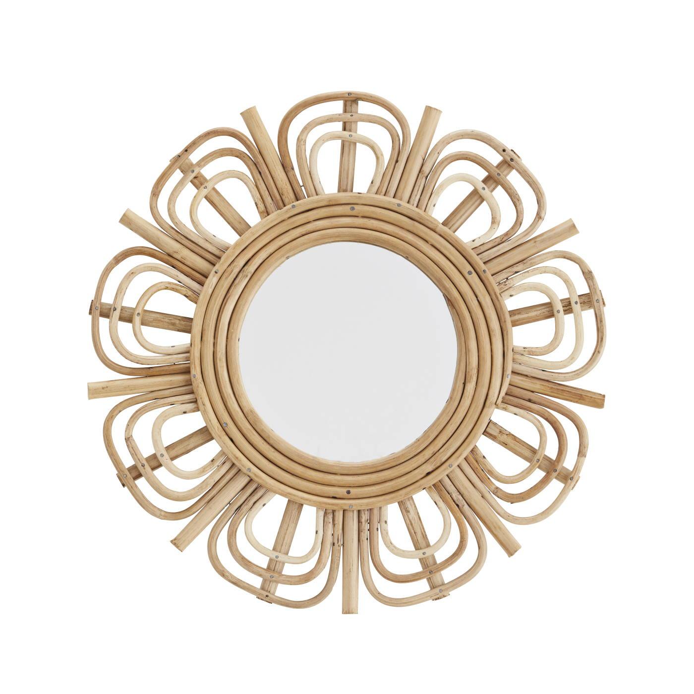 Rund spegel bambu, Madam Stoltz
