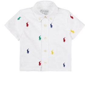 Ralph Lauren All Over Logo Skjorta Vit 6 mån