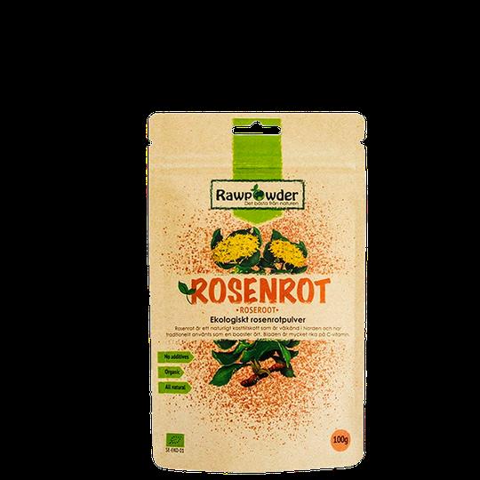 Ekologisk Rosenrotpulver, 100 g