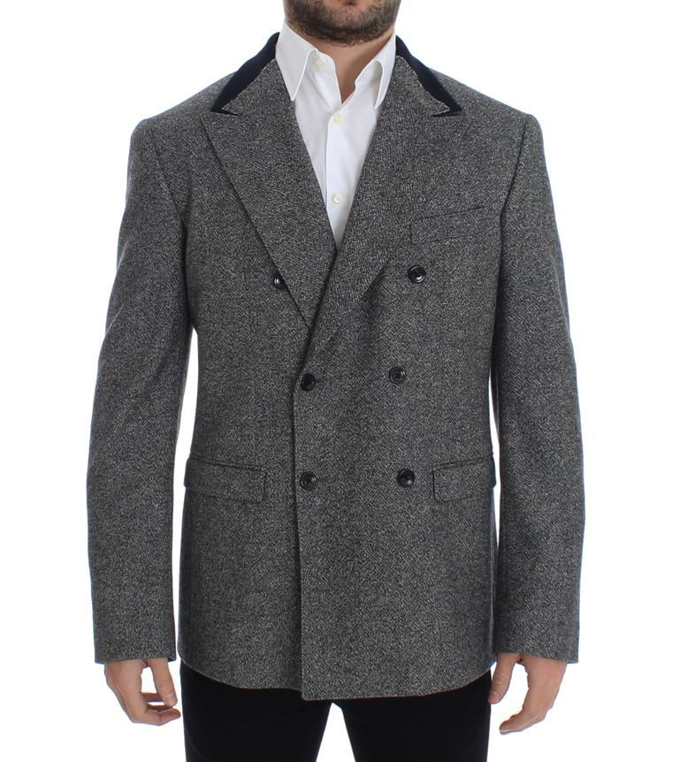 Dolce & Gabbana Men's Wool double breasted Blazer Gray SIG12245 - IT48   M