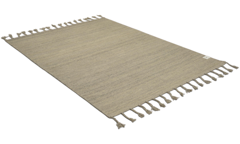 Plain silver - håndvevd ullteppe