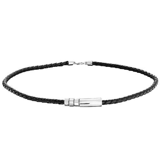 Halsband i läder 48cm