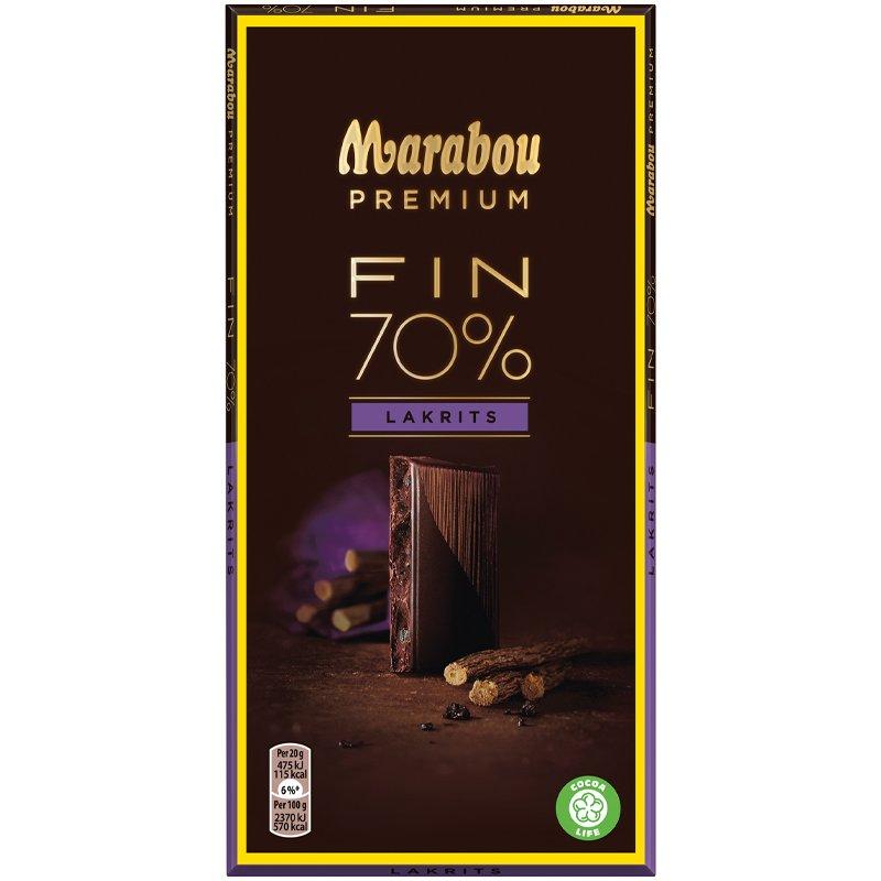 Marabou Premium Lakrits 70% - 15% rabatt