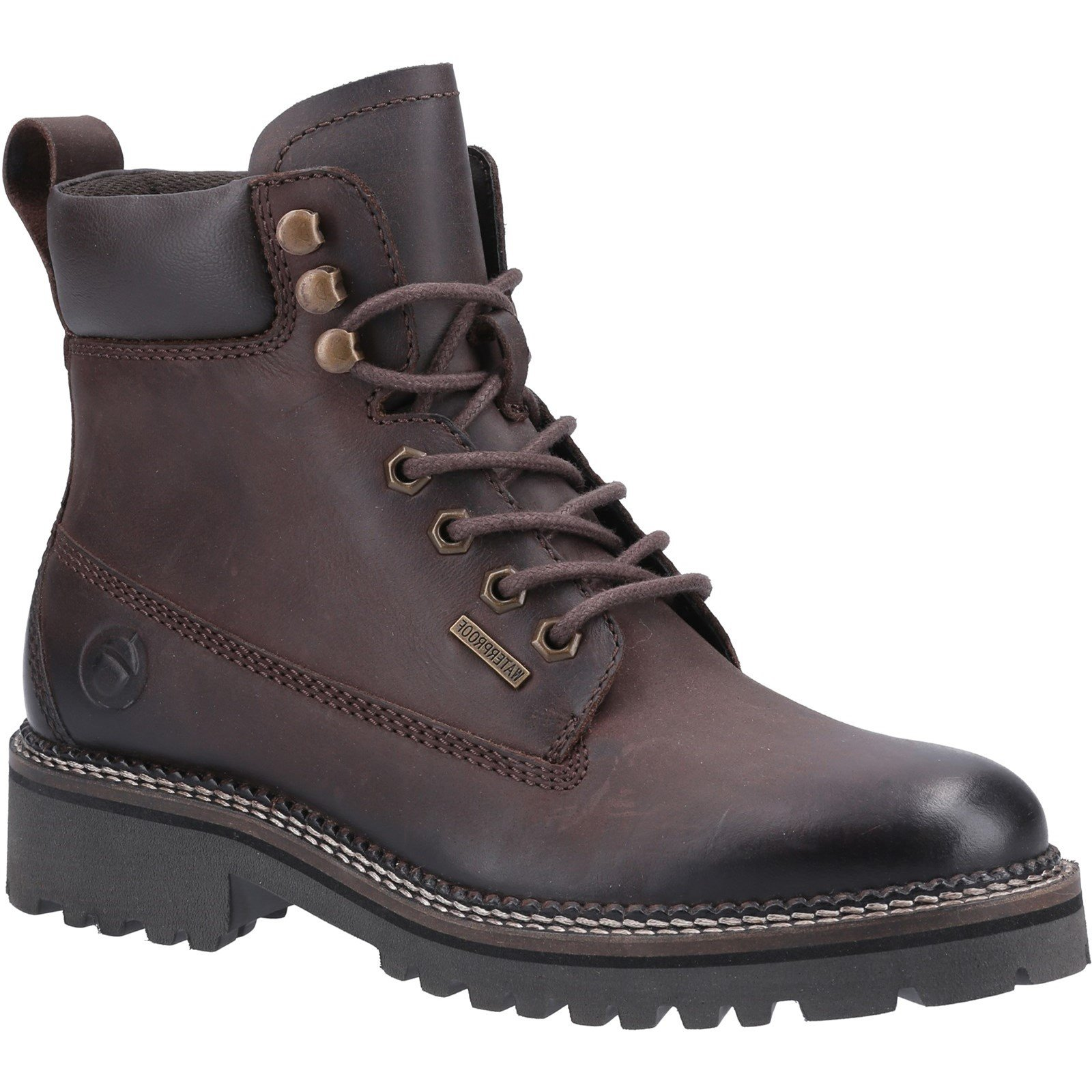 Cotswold Women's Chipping High Top Lace Up Ankle Boot Various Colours 32974 - Brown 5