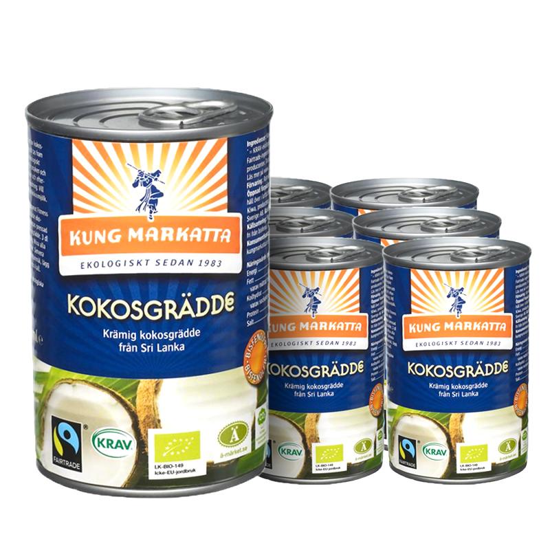 Kokosgrädde 6-pack - 31% rabatt