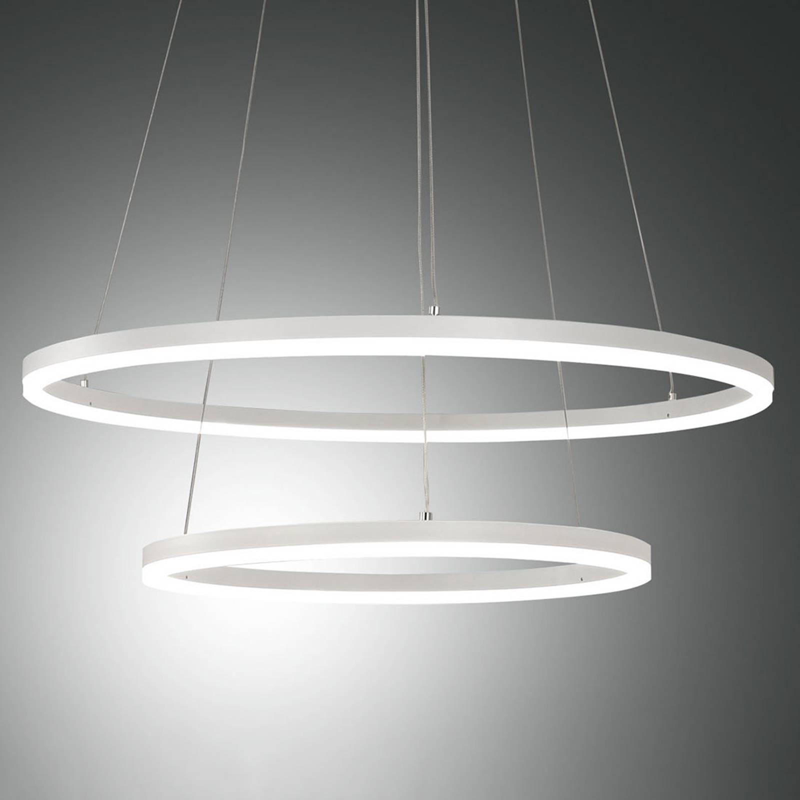 LED-riippuvalaisin Giotto, 2-lamppuinen, valkoinen