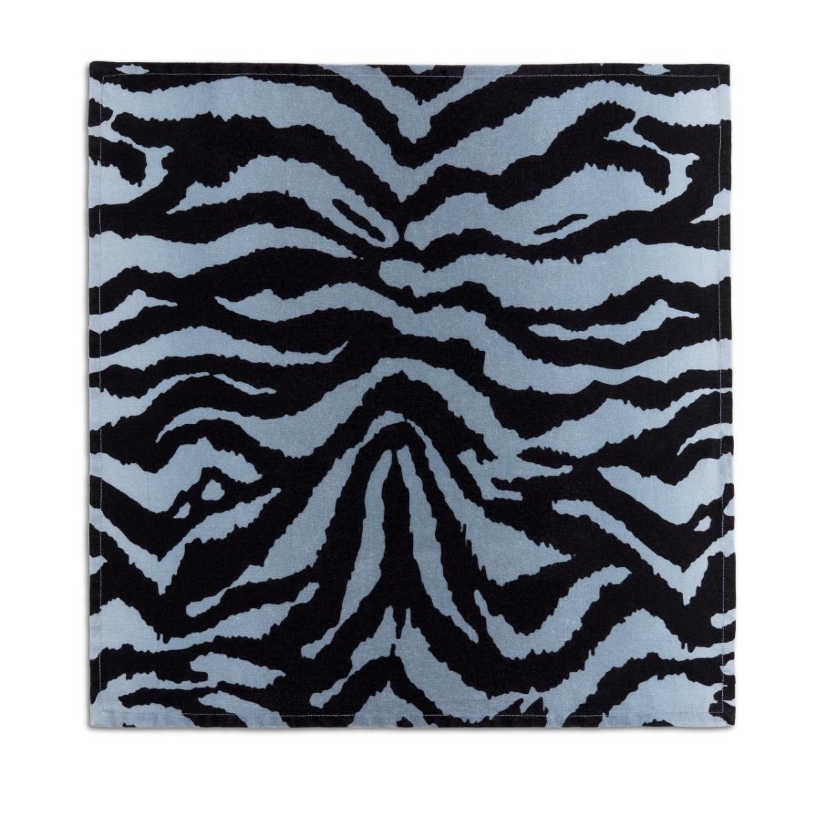 L'Objet I Linen Sateen Napkins (set of 4) I Tiger - Blue