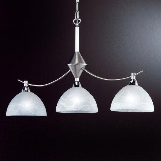 3 lampun AMSTERDAM-riippuvalaisin, mattanikkeli