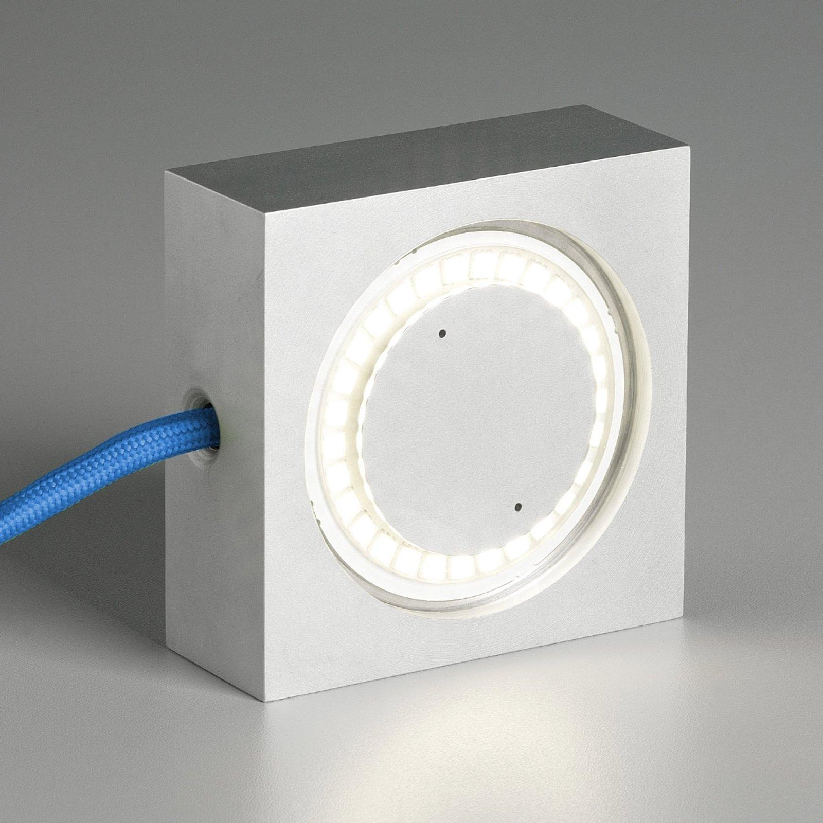 Flerbrukslampe Square med LED,blå tilkoblingsledn.