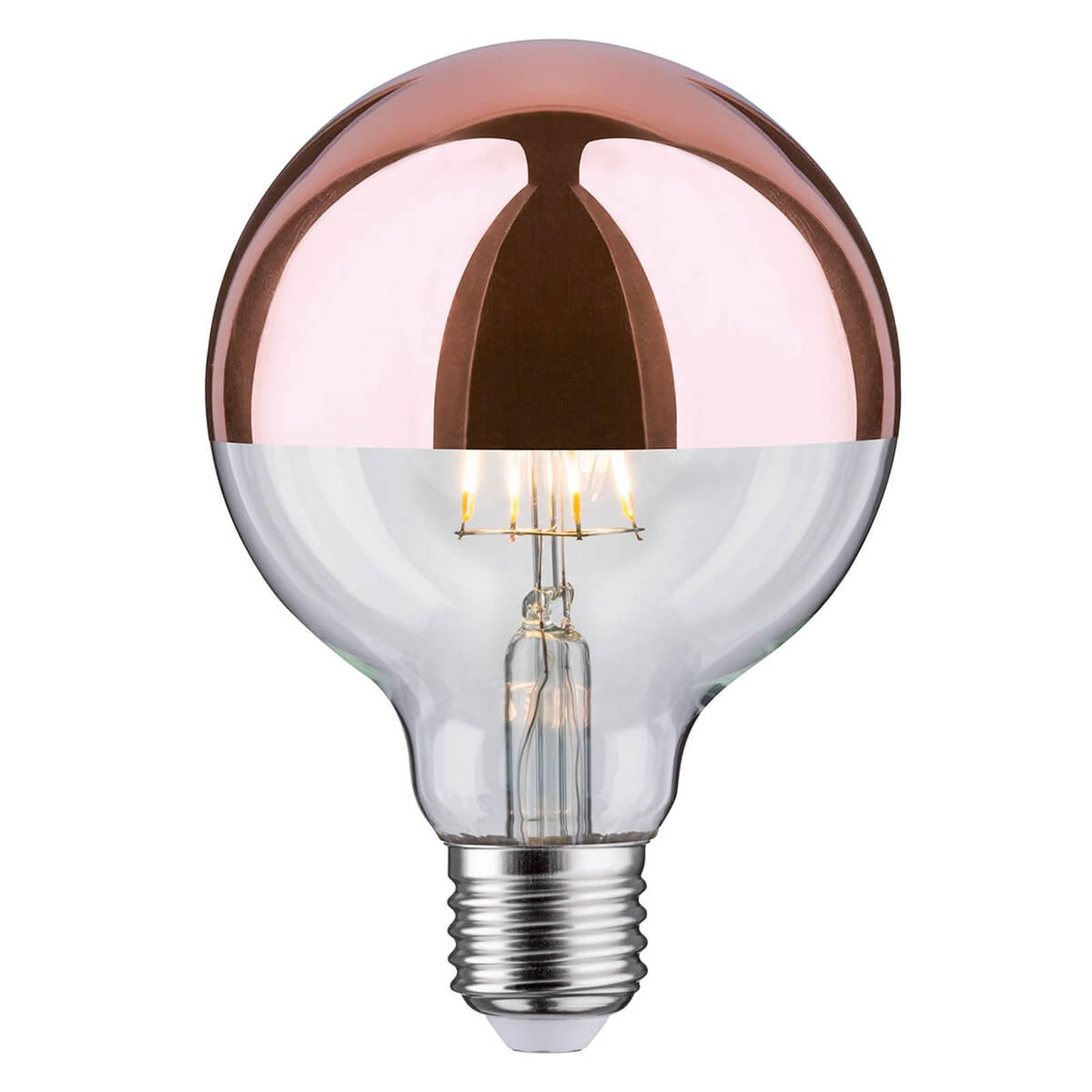 Paulmann speilet LED-pære E27 6,5W 827 G95 kobber
