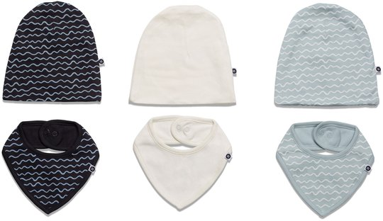 MiniMys Lue & Tøysmekke 6-Pack Yarn, Cloud Blue 56-62