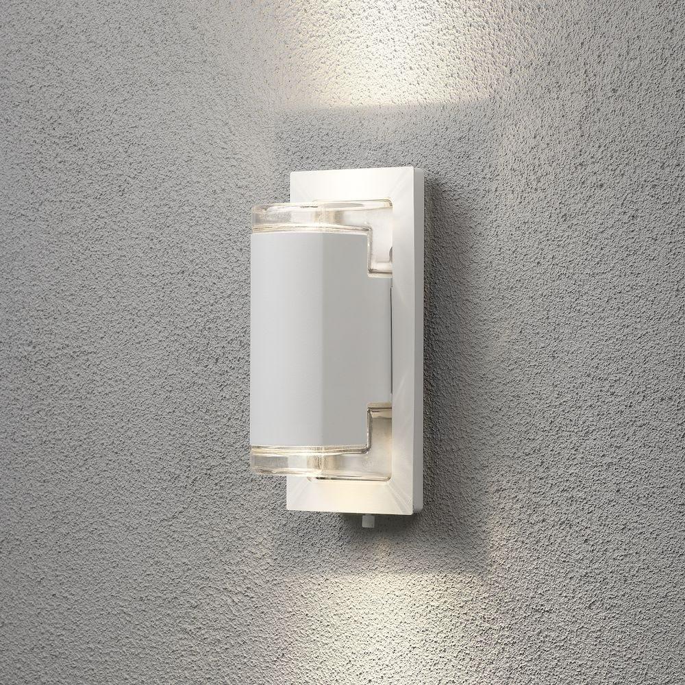 Konstsmide Vegglampe Potenza GU10 22.5cm Hvid