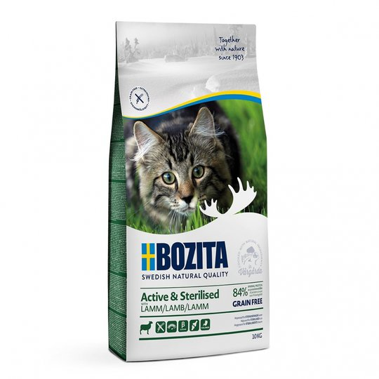 Bozita Active & Sterilised Grain free Lamb (10 kg)
