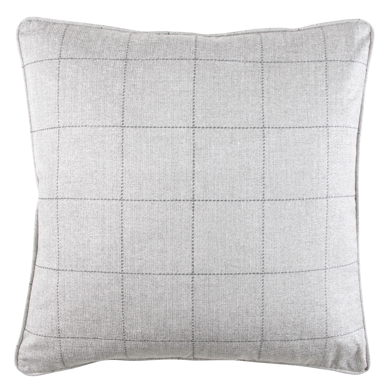 Zinc Romo I Kilgour Check Cushion | Silver Grey 50x50cm