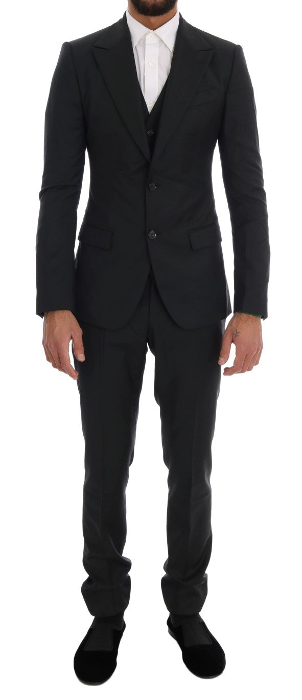 Dolce & Gabbana Men's Wool Two Button Slim Fit Green KOS1116 - IT44   XS