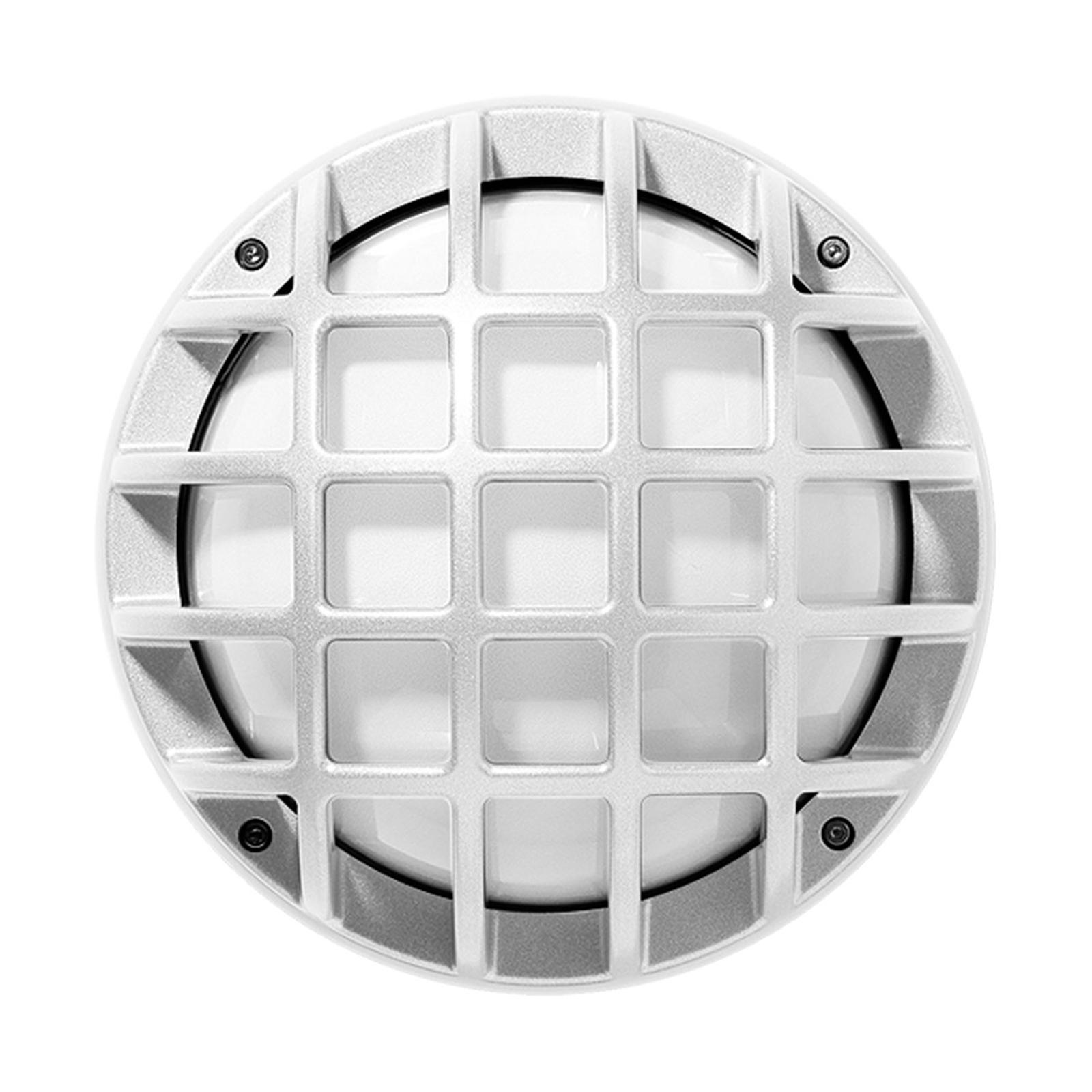 Ulkoseinävalaisin Eko+21/G, E27 kuvioitu valkoinen