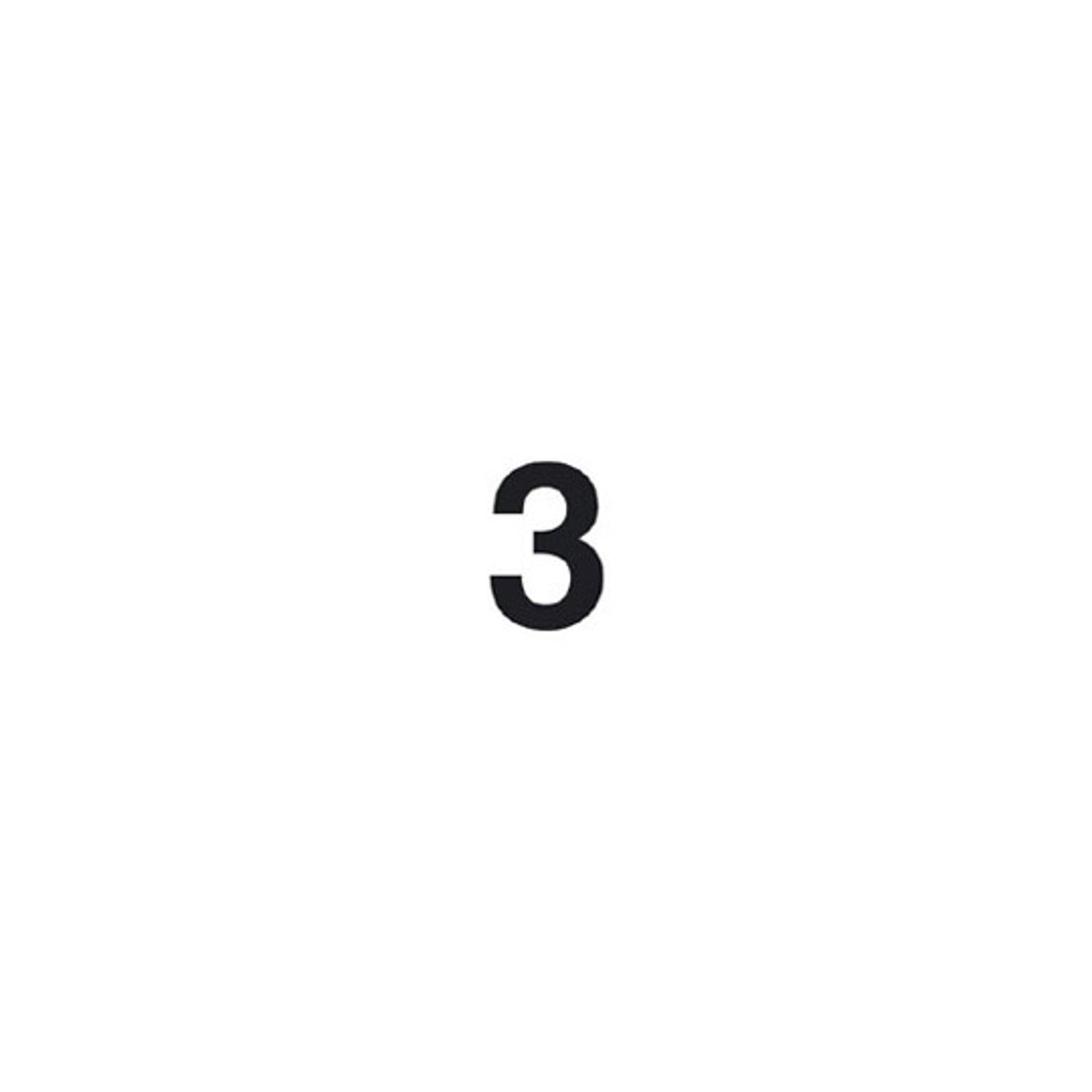 Selvklebende tallet 3