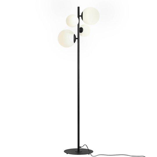 Gulvlampe Bloom, 4 lyskilder, svart